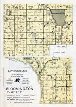 Bloomington Township - East and West, Bagley, Grant County 1956