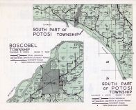 Boscobel Township, Potosi Township - South, Grant County 1956