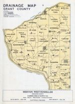 Grant County Drainage Map, Grant County 1956