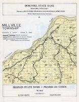 Millville Township, Wisconsin River, Grant County 1956