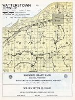Watterstown Township, Blue River, Wisconsin River, Grant County 1956