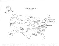 United States Map, Grant County 1990