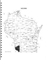 Wisconsin State Map, Grant County 1990