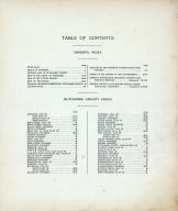Table of Contents, Outagamie County 1917