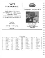 Apple River Township Owners Directory, Polk County 1988