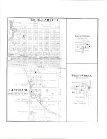 Richland City, Gotham, Eagle Corners, Byrd's Creek, Richland County 1895