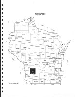 Wisconsin State Map, Richland County 1983