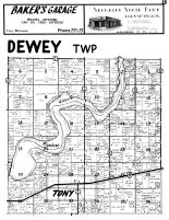 Dewey Township, Tony, Rusk County 1954
