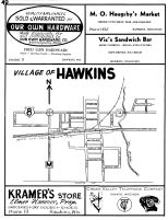 Hawkins - Village, Rusk County 1954
