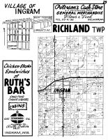 Richland Township, Ingraham, Rusk County 1954