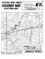 Rusk County Highway Map - East, Rusk County 1954