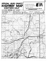 Rusk County Highway Map - West, Rusk County 1954