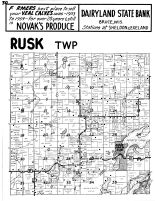 Rusk Township, Bear Lake, Rusk County 1954