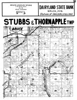 Stubbs Township, Thornapple Township, Bruce - South, Rusk County 1954