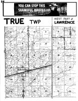 True Township, Glen Flora, Lawrence Township - West, Rusk County 1954
