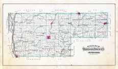 Vernon County Outline Map, Vernon County 1896