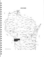 Wisconsin State Map, Vernon County 1983
