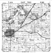 East Troy Township, Beulah Lake, Walworth County 1961
