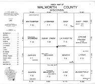 Walworth County Index Map, Walworth County 1961
