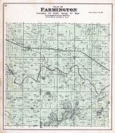 Farmington Township, Chain Lakes, Badger P.O., Sheridan P.O., Waupaca County 1889