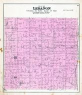 Lebanon Township, Sugar Bush P.O., Flynn Lake, Waupaca County 1889
