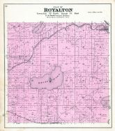Royalton Township, Baldwin's Mills P.O., White Lake, Bear, Partridge Crop, Waupaca County 1889