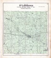 St. Lawrence Township, Ogdensburg, Mallory Lake, Wolf River, Mill Pond, Waupaca County 1889