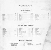 Table of Contents, Waupaca County 1889