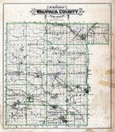 Waupaca County Outline Map, Waupaca County 1889