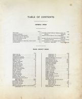 Table of Contents, Wood County 1928