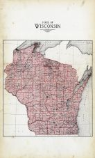 Wisconsin State Map, Wood County 1928