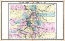Colorado, United States 1885 Atlas of Central and Midwestern States