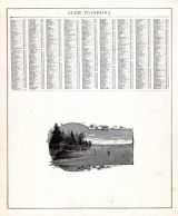 Indiana - Guide 2, United States 1885 Atlas of Central and Midwestern States
