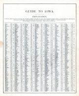 Iowa - Guide 1, United States 1885 Atlas of Central and Midwestern States