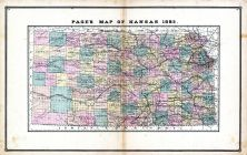 Kansas, United States 1885 Atlas of Central and Midwestern States