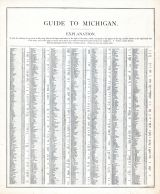 Michigan - Guide 1, United States 1885 Atlas of Central and Midwestern States
