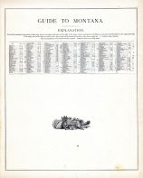 Montana - Guide, United States 1885 Atlas of Central and Midwestern States