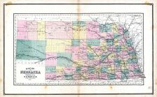 Nebraska, United States 1885 Atlas of Central and Midwestern States
