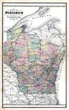 Wisconsin, United States 1885 Atlas of Central and Midwestern States