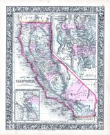 California, Great Salt Lake Country, San Francisco Bay and Vicinity, World Atlas 1864 Mitchells New General Atlas