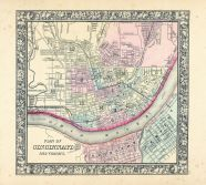 Cincinnati, World Atlas 1864 Mitchells New General Atlas
