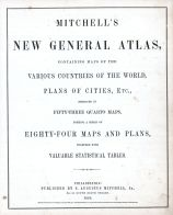 World Atlas 1864 Mitchells New General Atlas