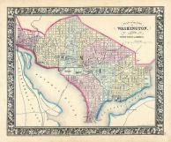 Washington D.C., World Atlas 1864 Mitchells New General Atlas