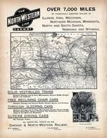 Chicago and North - Western Railway, World Atlas 1890