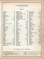Table of Contents 1, World Atlas 1890