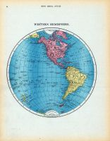 Page 054 - Western Hemisphere, World Atlas 1911c from Minnesota State and County Survey Atlas