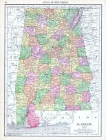 Alabama, World Atlas 1913