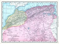 Algeria, Tunis and Morocco, World Atlas 1913