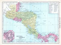 Central America, World Atlas 1913