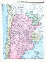 Chile, Argentina, Paraguay and Uruguay, World Atlas 1913